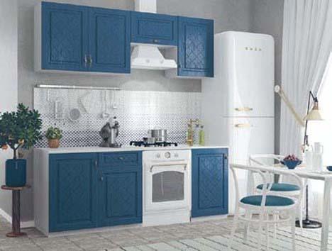 Кухонный гарнитур Гранд синий 1,9м