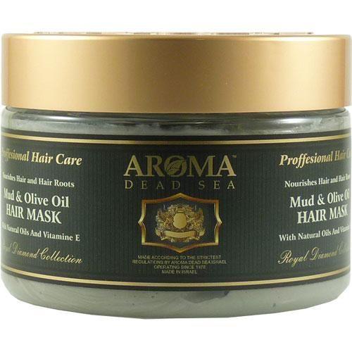 Грязевая маска для волос с оливковым маслом и витамином Е - Aroma Dead Sea (Арома Дэд Си) 600 мл