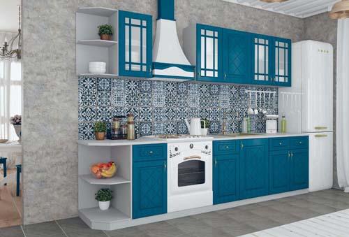 Кухонный гарнитур Гранд синий 2,4м