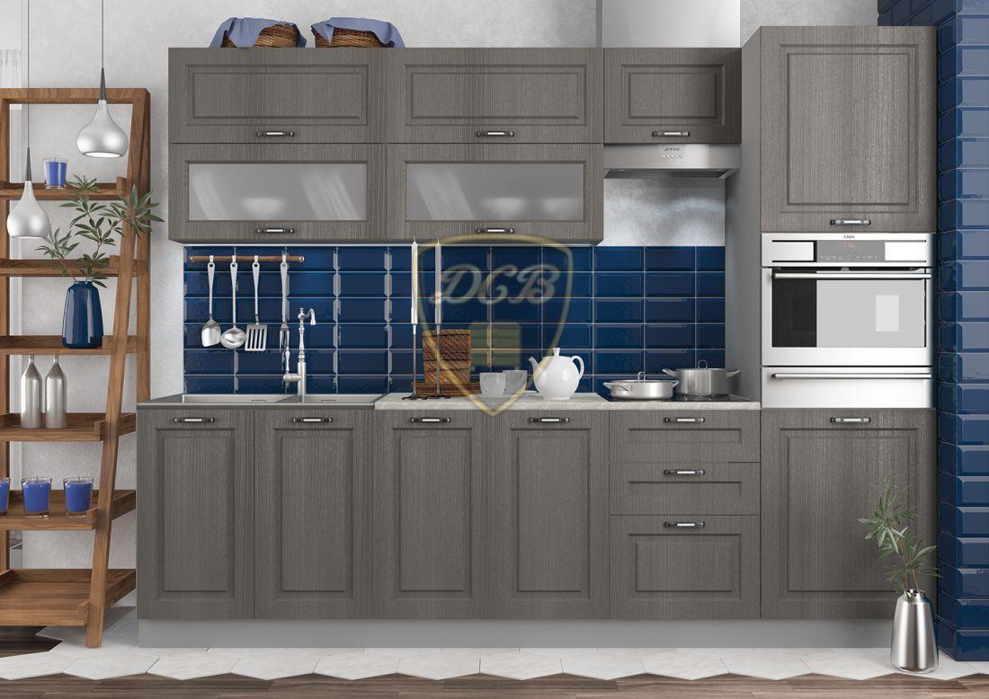 Кухонный гарнитур Капри темная 2,7м
