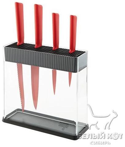 Набор ножей на подставке Kuhn Rikon Colori 4 шт красные 26593