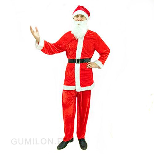 Костюм Санта Клауса с меховой отделкой, взрослый