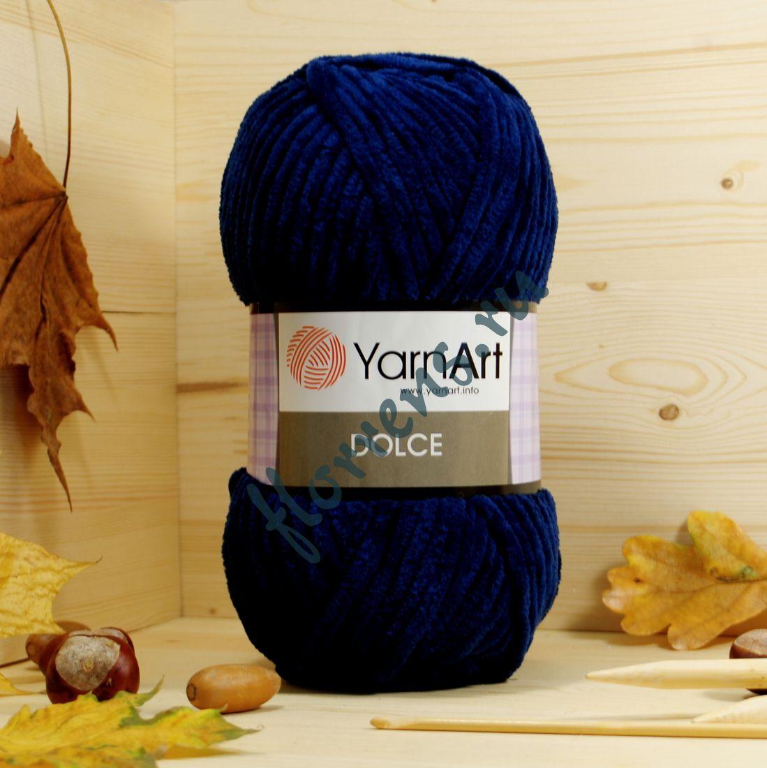 Пряжа YarnArt Dolce / 756 темно-синий
