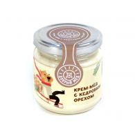 Крем-мед с кедровым орехом 220 гр, стеклянная банка