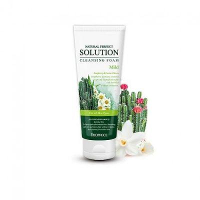 ДП FOAM Пенка для умывания кактус, ромашка NATURAL PERFECT SOLUTION CLEANSING FOAM 170g 170гр