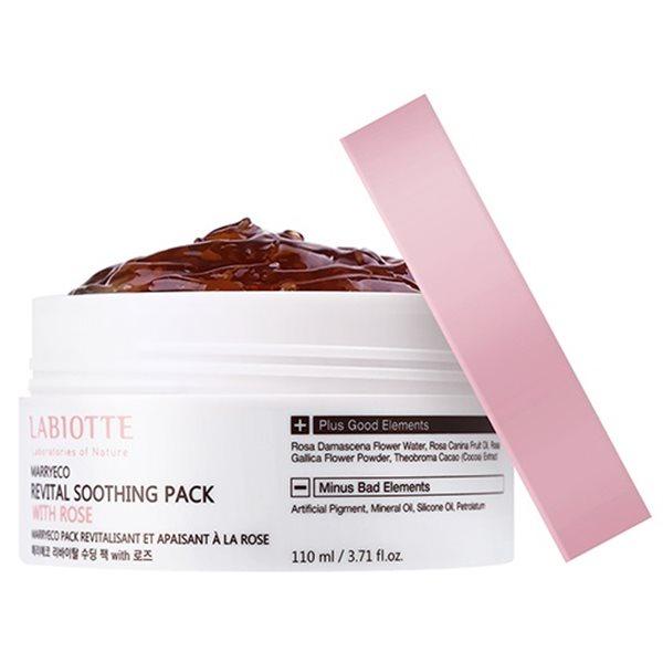 Маска для лица укрепляющая LABIOTTE MARRYECO SOOTHING PACK ROSE 110мл