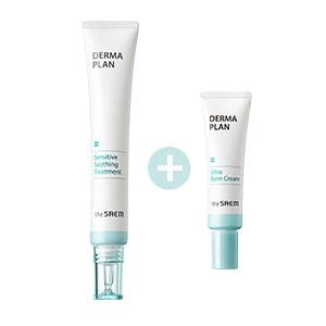 THE SAEM Набор для чувствительной кожи DERMA PLAN Sensitive Soothing Treatment Special Set 30мл/10мл