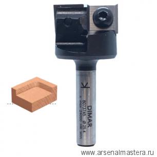 Фреза для выравнивания поверхности и слэбов со сменными ножами DIMAR 25.4 x 12 x 53 x 8 Z2 8073745