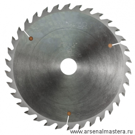 Пила дисковая (пильный диск) DIMAR продольная и поперечная распиловка древесины 250-40-3,2/2,2-30 90102606