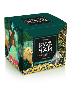 Иван-Чай листовой Bionergy «ВОССТАНОВЛЕНИЕ СИЛ» с чабрецом, пакетированный