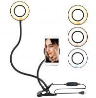 Гибкая светодиодная кольцевая лампа с держателем смартфона Professional Live Stream_1