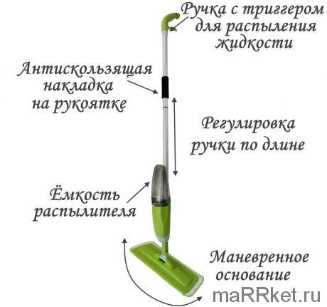 Швабра со встроенным распылителем HEALTHY SPRAY MOP (зеленый)