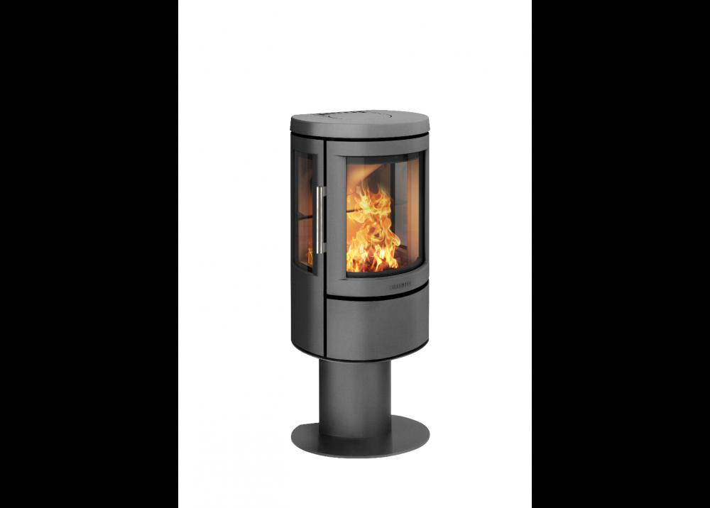 Отопительная печь HWAM 2610с на пьедестале, цвет черный/серый