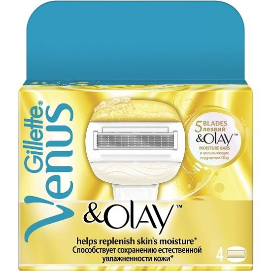 Gillette Venus and Olay сменные кассеты (4 шт)