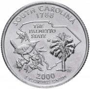 ХАЛЯВА!!! 25 центов США 2000г - Южная Каролина, VF- Серия Штаты и территории