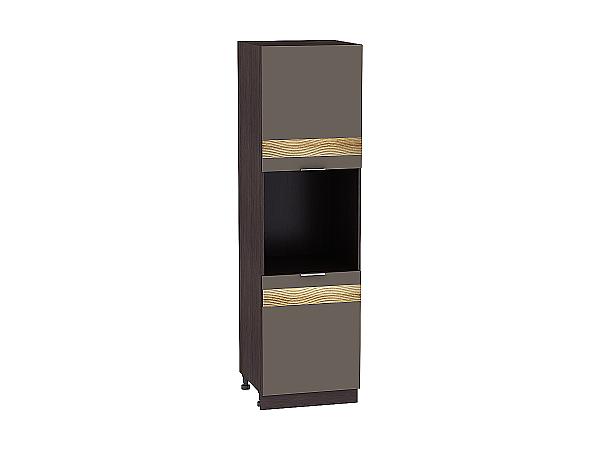 Шкаф-пенал под бытовую технику Терра ШП600H D (Смоки софт)