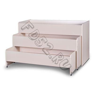 Кровать детская раздвижная 3 яруса МАТРЕШКА