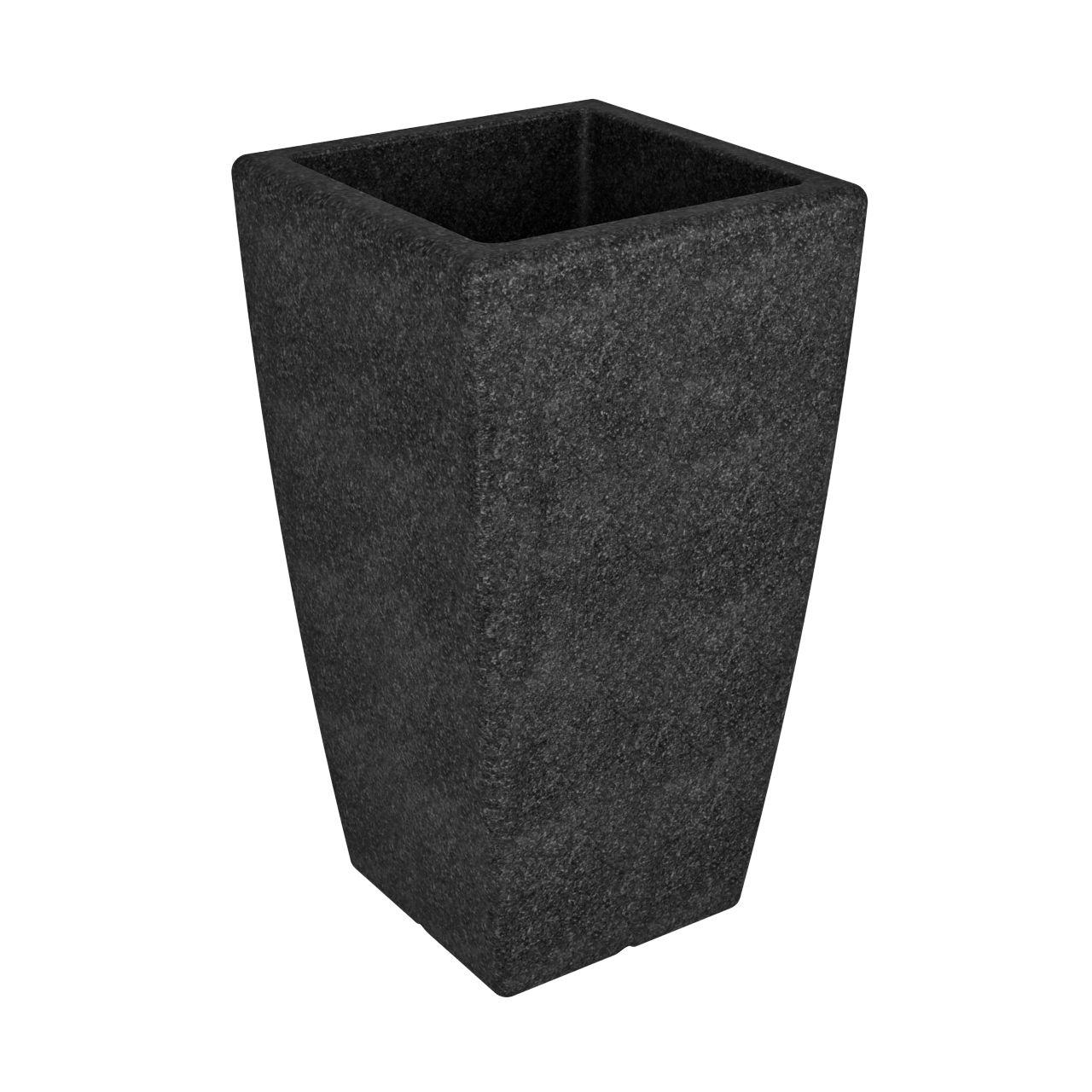 Кашпо FLOX P 900 черный гранит