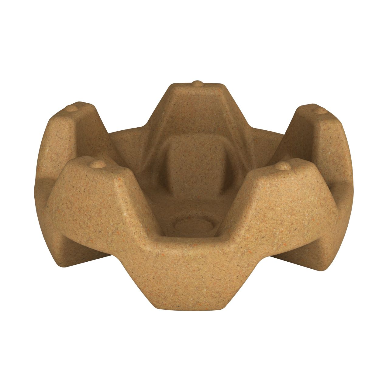 Вазон пластиковый FLOX песочный гранит