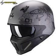 Шлем Scorpion Covert-X Xborg, Серебряно-черный
