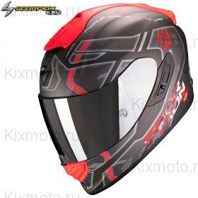 Шлем Scorpion EXO 1400 Air Spatium, Черный матовый с красным