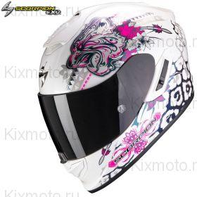 Шлем Scorpion EXO 1400 Air Toa, Бело-розовый