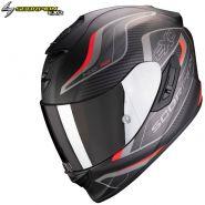 Шлем Scorpion EXO 1400 Air Attune, Черный матовый с красным