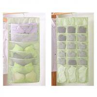 Органайзер подвесной двусторонний 24 кармашка (цвет салатовый)