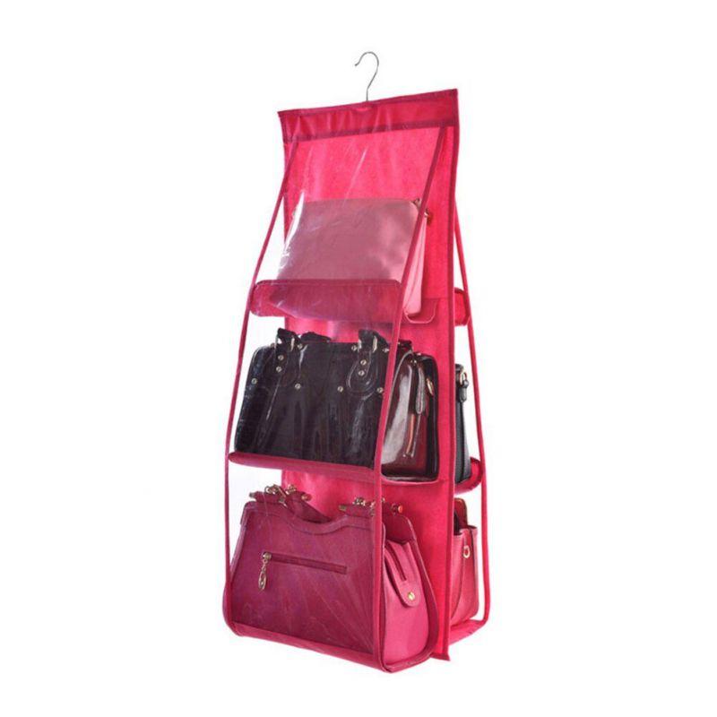 Органайзер для сумок Hanging Purse Organizer (цвет фуксия)