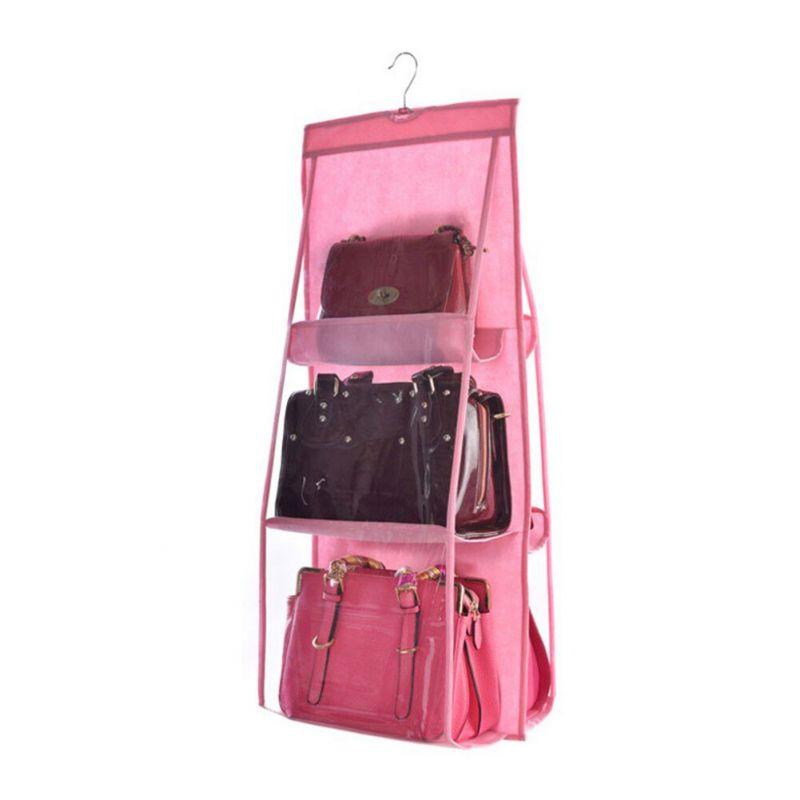 Органайзер для сумок Hanging Purse Organizer (цвет розовый)
