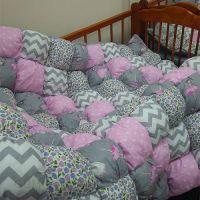 Бортики бонбон на кроватку 120*60 см. + простынь на резинке