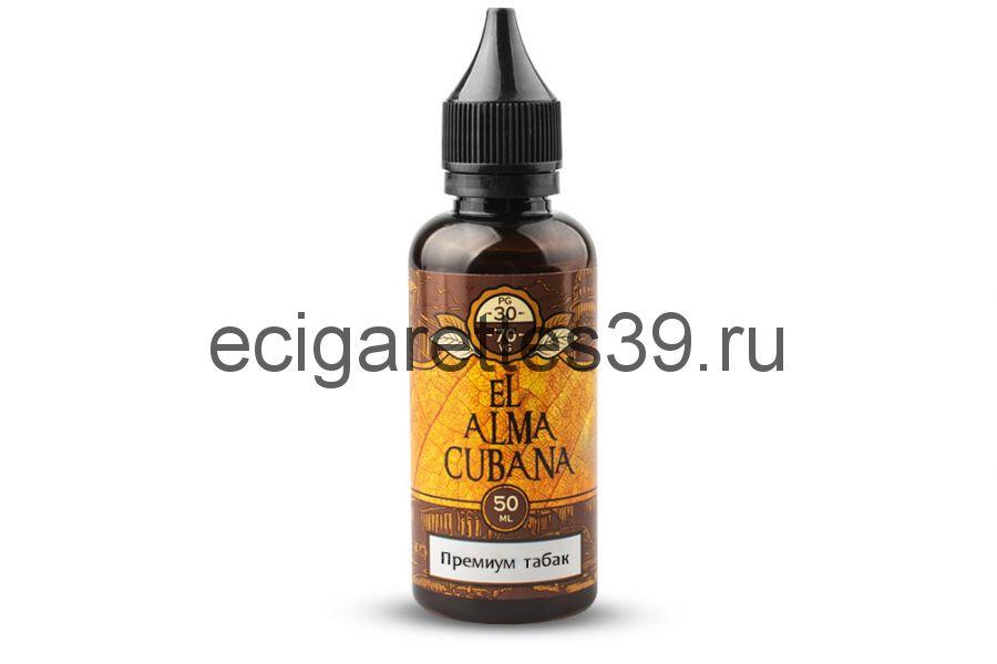 Жидкость EL Alma CUBANA Премиум табак, 50 мл.
