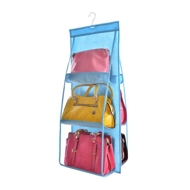 Органайзер для сумок Hanging Purse Organizer (цвет голубой)
