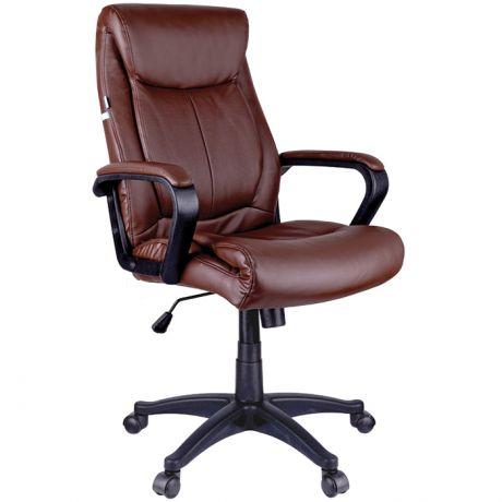 """Кресло руководителя Helmi HL-E02 """"Income"""", экокожа коричневая"""