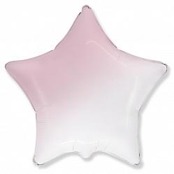 Шар (18''/46 см) Звезда, Розовый, Градиент, 1 шт., Flexmetal