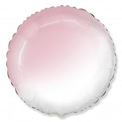 Шар (18''/46 см) Круг, Розовый, Градиент, 1 шт., Испания