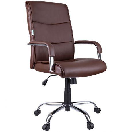 """Кресло руководителя Helmi HL-E03 """"Accept"""", экокожа коричневая"""