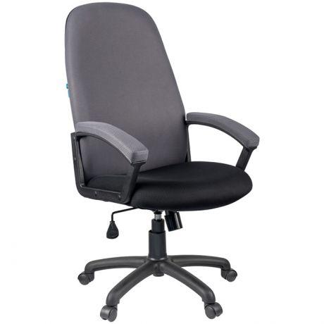 """Кресло руководителя Helmi HL-E79 """"Elegant"""", ткань TW черная/серая"""