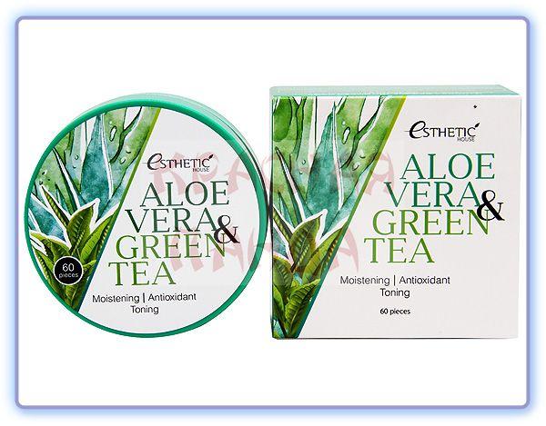 Esthetic House Aloe Vera & Green Tea Hydrogel Eye Patch