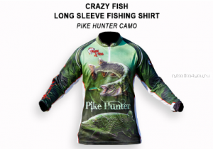 Реглан CRAZY FISH Pike Hunter цвет: camo