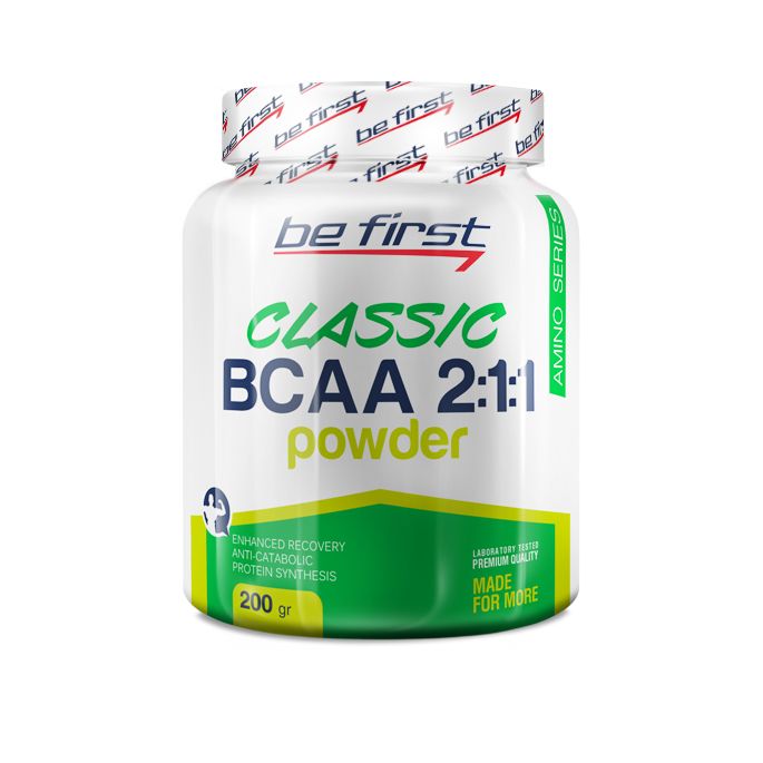 BCAA 2:1:1 Classic Powder от Be First, 200 гр