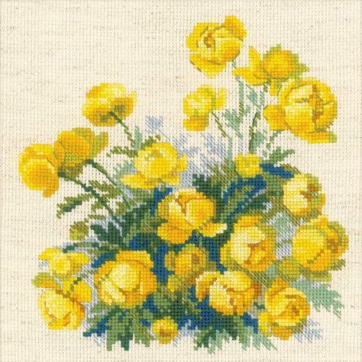 Набор для вышивания крестом Купавки №1515 фирма Риолис