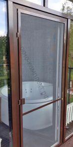 Москитная сетка коричневая ДВЕРНАЯ с 2-мя импостами (в комплекте: 3 магнита, 3 петли, 2 ручки балконные)