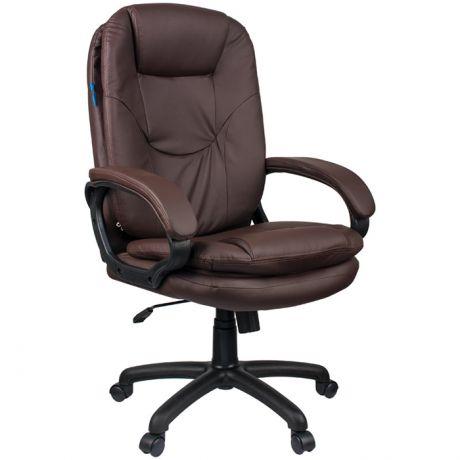 """Кресло руководителя Helmi HL-E68 """"Reputation"""", экокожа коричневая, мягкий подлокотник"""