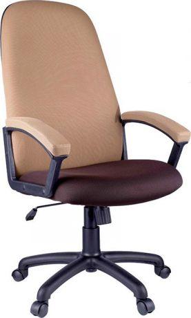 """Кресло руководителя Helmi HL-E79 """"Elegant"""", ткань TW коричневая/бежевая"""