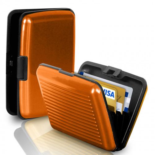 Кейс для кредитных карт Security Credit Card Wallet (цвет оранжевый)