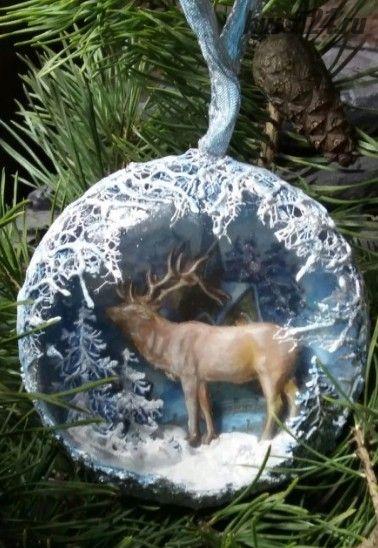 Медальон Северный олень (Анна Грабежова)