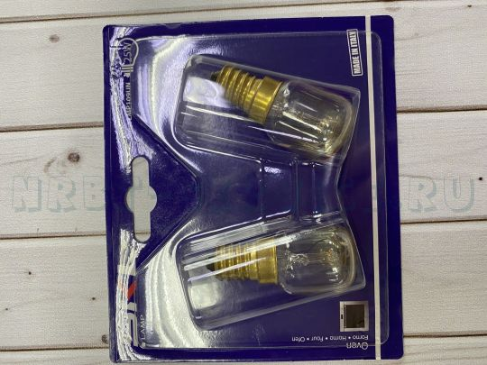 Лампа духовки 300С Е14 15W T25 комплект 2 шт.SKL