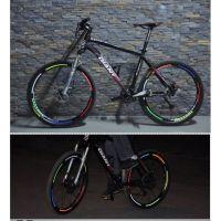 Наклейки на обод велосипеда светоотражающие 8 шт_2