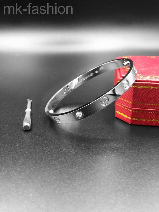Сartier Love Bracelet SILVER фианит
